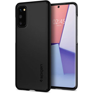Durable and lightweight, the Spigen Thin Fit series for the Samsung Galaxy S20 offers premium protection in a slim, stylish package. Carefully designed the Thin Fit case in smooth black is form-fitted for a perfect fit.