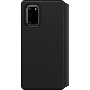 A sophisticated lightweight black Strada Wallet Cover Case from Otterbox offers perfect protection for your Samsung Galaxy S20 Plus, as well as featuring slots for your cards, cash and documents ensuring you are fully equipped for your daily activities.
