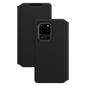 A sophisticated lightweight black Strada Wallet Cover Case from Otterbox offers perfect protection for your Galaxy S20 ultra, as well as featuring slots for your cards, cash and documents ensuring you are fully equipped for your daily activities.