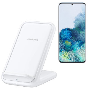 Charge your wireless compatible Samsung Galaxy S20  quickly with the official fast wireless charging stand 15w in white. Spend less time waiting around for your phone to charge with this official Samsung fast wireless charging stand.