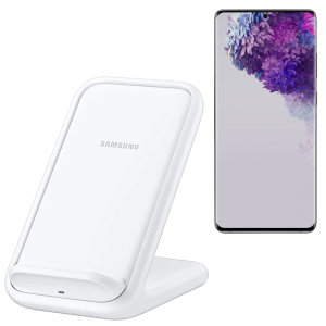 Charge your wireless compatible Samsung Galaxy S20 Ultra quickly with the official fast wireless charging stand 15w in white. Spend less time waiting around for your phone to charge with this official Samsung fast wireless charging stand.