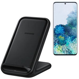 Charge your wireless compatible Samsung S20  quickly with the official fast wireless charging stand 15W in black. Spend less time waiting around for your phone to charge with this official Samsung fast wireless charging stand.