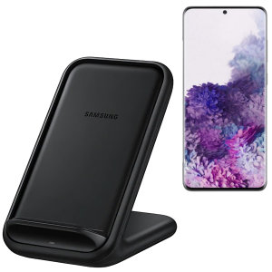 Official Samsung S20 Plus Fast Wireless Charger Stand 15W - Black