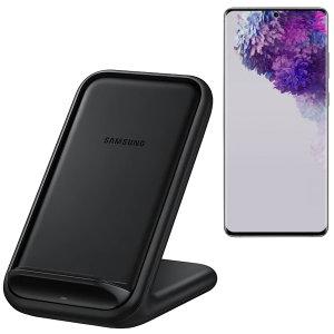 Offizielle Samsung S20 Ultra Fast Wireless-Ladegerät 15W Stand Schwarz