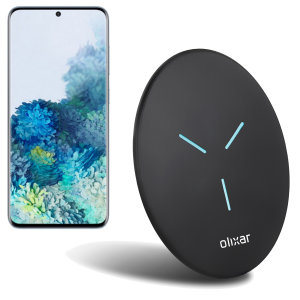 Enjoy the cable-free convenience of fast wireless charging with this super thin and compact wireless charger from Olixar. Offering up to 10W charging for the Samsung Galaxy S20.