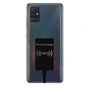 Enable wireless charging for your samsung galaxy A51 USB-C device without replacing your back cover or case with this Ultra Thin Qi Wireless Charging Adapter.