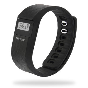 Bitmore Fitness Calorie Step & Distance Tracker Watch - Black