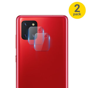 This 2 pack of ultra-thin tempered glass rear camera protectors for the Samsung Galaxy Note 10 Lite from Olixar offers toughness and superb clarity for your photography all in one package.