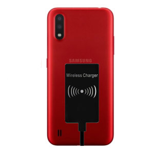 Enable wireless charging for your Samsung Galaxy A01 without replacing your back cover or case with this Ultra Thin Qi Wireless Charging Adapter.
