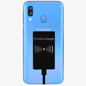 Enable wireless charging for your Samsung Galaxy A40 USB-C device without replacing your back cover or case with this Ultra Thin Qi Wireless Charging Adapter.