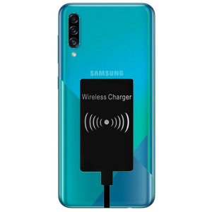 Enable wireless charging for your Samsung Galaxy A30s USB-C device without replacing your back cover or case with this Ultra Thin Qi Wireless Charging Adapter.