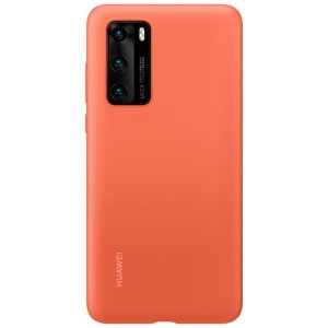 Official Huawei P40 Silicone Protective Case - Coral Orange