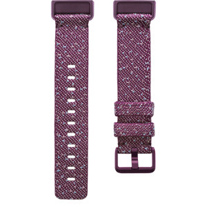 The Charge 4 Woven Band Strap Small in Rosewood is flexible, stylish & comfortable making it easy to take your Fitbit Charge 4 from work to special occasions. The Woven band expresses a sophisticated look whilst adding comfort to your lifestyle.