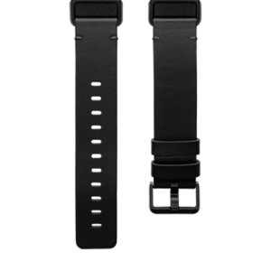 Fitbit Charge 4 Premium Leather Band Strap - Large - Black