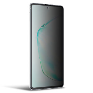 Keep your Samsung Galaxy Note 10 Lite screen in pristine condition and protect your personal data on the go with this Olixar scratch-resistant film privacy screen protector 2-in-1 pack.
