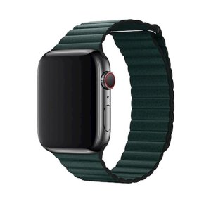With this beautiful forest green leather strap from Devia, express yourself and customise your beautiful new Apple Watch 44mm / 42mm to suit your personal sense of style. Fits all Apple watch series, as long as they have 44mm / 42mm face dimension.