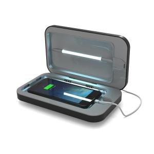 Introducing the PhoneSoap 3.0 in phone sanitizer and phone charger in Black. Featuring UV lights, PhoneSoap 3.0 cleanses your phone from bacteria and viruses, while also having the capability of charging your phone at the same time.