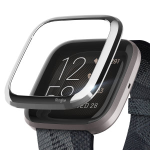 A stainless steel cover for your Fitbit Versa 2 in  Silver from Ringke is a very stylish way to diversify and secure your Apple Watch. Bezel Styling gives the smartwatch an exclusive look whilst providing daily protection.