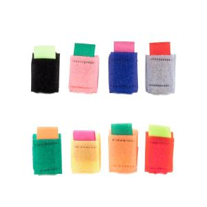 Bunch up and organize your computer and game console cables with our set of 8 color coded ties. With ultra strong velcro grip, you can put many cables through these ties, holding them together keeping your work space organised, neat & tidy.
