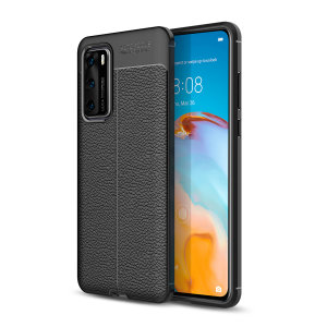 Olixar Attache Huawei P40 Leather-stil beskyttende etui - Svart