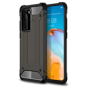 Protect your Huawei P40 Pro from bumps and scrapes with this gunmetal grey Delta Armour case from Olixar. Comprised of an inner TPU section and an outer impact-resistant exoskeleton.