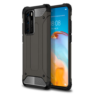 Protect your Huawei P40 from bumps and scrapes with this gunmetal grey Delta Armour case from Olixar. Comprised of an inner TPU section and an outer impact-resistant exoskeleton.