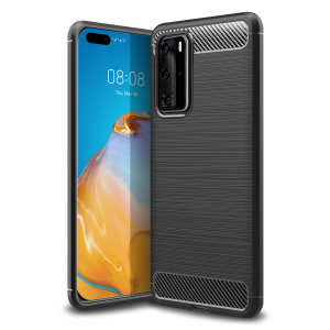 Flexible rugged casing with a premium matte finish non-slip carbon fibre and brushed metal design, the Olixar carbon case in black keeps your Huawei P40 Pro protected.
