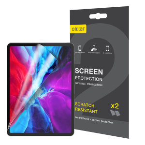 "Keep your iPad Pro 12.9"" 2020 screen in pristine condition with this Olixar scratch-resistant screen protector 2-in-1 pack. Ultra responsive and easy to apply, these screen protectors are the ideal way to keep your display looking brand new."