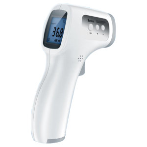 The hoco. Infrared Thermometer allows non-contact temperature measurement to protect your health with the press of one button. With a large LCD display the this thermometer is easy to use showing accurate data clearly.