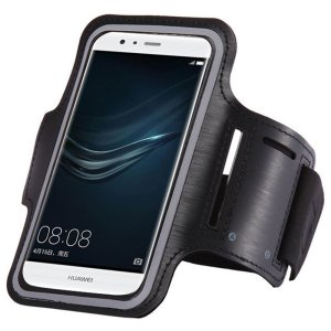 "Carry your smartphone securely while you're exercising using the Universal Armband in black. This comfortable armband is adjustable and made out of a lightweight and breathable material, suitable to carry smartphones up to 6""."