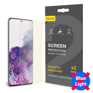 Olixar Samsung S20 Plus Anti-Blue Light Film Screen Protector 2 Pack