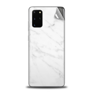 Olixar Samsung Galaxy S20 Plus Phone Skin - Marble White