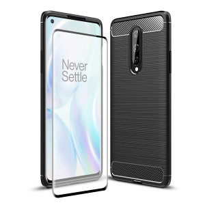 Flexible rugged casing with a premium matte finish non-slip carbon fibre and brushed metal design, the Olixar Sentinel case in black keeps your OnePlus 8 protected from 360 degrees with the added bonus of a tempered glass screen protector.
