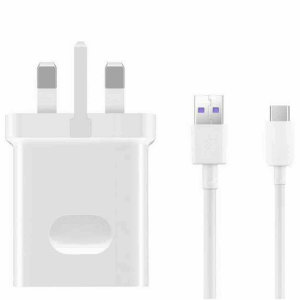 Fast charge your Huawei USB-C device with this genuine Huawei UK SuperCharge mains charge, made to the highest standards, quality & safety measures. The SuperCharge features folding pins for travel convenience. This product is not retail boxed.