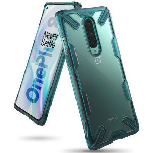 Keep your OnePlus 8 protected from bumps and drops with the Rearth Ringke Fusion X tough case in Turquoise Green. Featuring a 2-part, Polycarbonate design, this case lives up to military drop test standards so you can rest assured that your device is safe