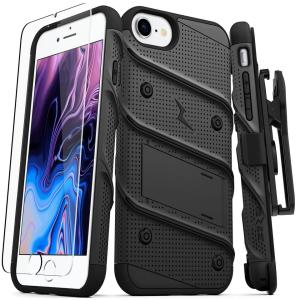 Equip your Apple iPhone SE 2020 with military grade protection and superb functionality with the ultra-rugged Bolt case in black from Zizo. Coming complete with a handy belt clip and integrated kickstand.