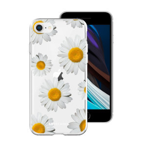 LoveCases iPhone SE 2020 Daisy Case - White