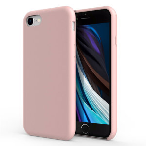 Custom moulded for the iPhone SE 2020, this pastel pink soft silicone case from Olixar provides excellent protection against damage as well as a slimline fit for added convenience.