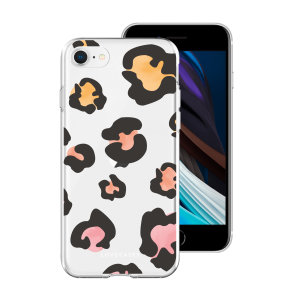 LoveCases iPhone SE 2020 Coloured Leopard Case