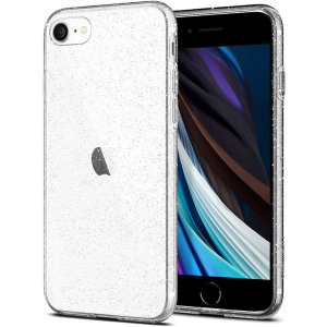 Durable and lightweight, the Spigen Liquid Crystal Glitter series for the iPhone SE 2020 offers premium protection in a slim, form-fitting, stylish package with a sparkling Cystal Quartz pattern to accentuate your phone's own dynamic beauty.