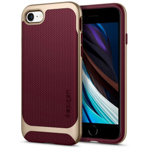 The Spigen Neo Hybrid in Burgundy colour is the new leader in lightweight protective cases. Spigen's new Air Cushion Technology reduces the thickness of the case while providing optimal corner protection for your iPhone SE 2020.