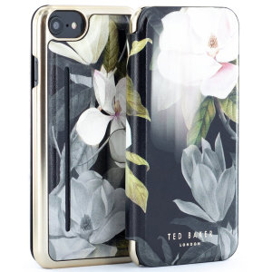 Form-fitting and bulk-free, the Opal case for iPhone 7 / 8 from Ted Baker sports an ethereal, otherworldly floral aesthetic while also offering superlative protection for your device from drops, scrapes and other damage.