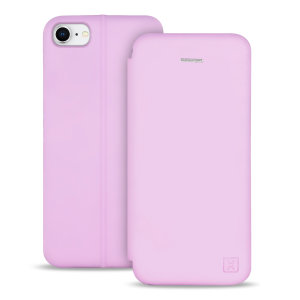 Olixar Soft Silicone iPhone 8 Wallet Case - Pastel Pink