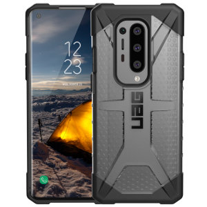 The Urban Armour Gear Plasma for the OnePlus 8 Pro features a protective TPU case in Ice Grey with a brushed metal UAG logo insert for an amazing design and excellent protection from scrapes, bumps and scratches.