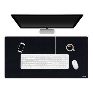 This Ultra-Thin Full Size Leather Office & Gaming Mat from Olixar is perfect for accommodating all your working or gaming needs. This mat is big enough to place your laptop, mouse, files & more, ensuring you stay organised during working from home or gami
