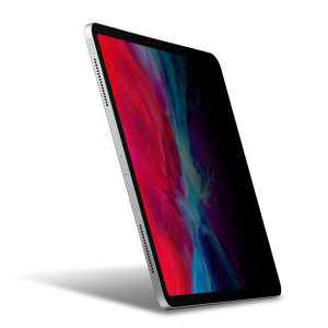 "Keep your iPad Pro 12.9"" 2018 screen in pristine condition and protect your personal data on the go with this Olixar scratch-resistant film privacy screen protector 2-in-1 pack."