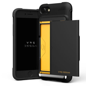 Protect your iPhone SE 2020 with this precisely designed Damda Glide Shield case in matt black from VRS. Made with tough yet slim material, this hard-shell construction with soft core features patented sliding technology to store two credit cards or ID.