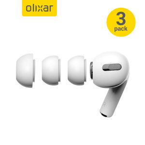 Olixar Soft Silicone Replacement Tips For Apple Airpods Pro - 3 Pack