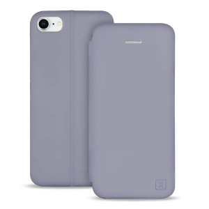 Custom moulded for the iPhone 8, this grey soft silicone flip case from Olixar provides excellent protection against damage as well as a slimline fit. Additionally, this case transforms into a stand to view media and includes a card slot.