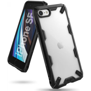 Keep your Apple iPhone SE 2020 protected from bumps and drops with the Rearth Ringke Fusion X tough case in Black. Featuring a 2-part, Polycarbonate design, this case lives up to military drop-test standards.
